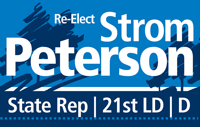 Re-Elect Strom Peterson